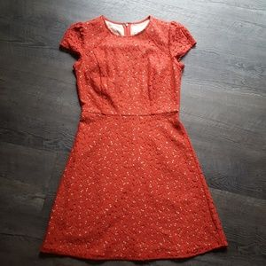 Ann Taylor red lace dress